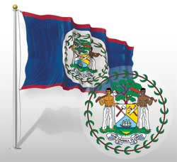 Belize Flag And Arms